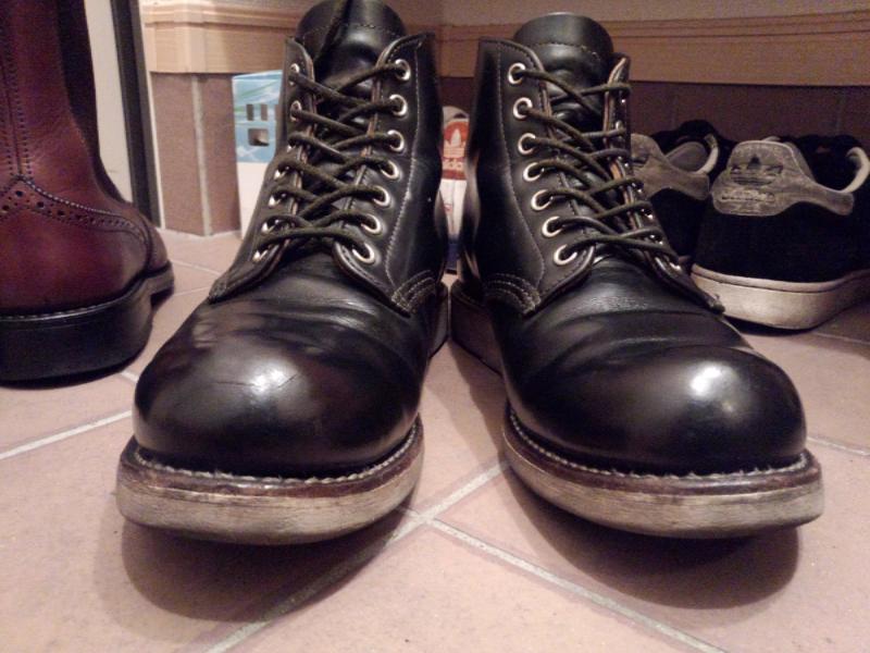 経年変化ブーツ レッドウィング9870 茶芯 ワークブーツ