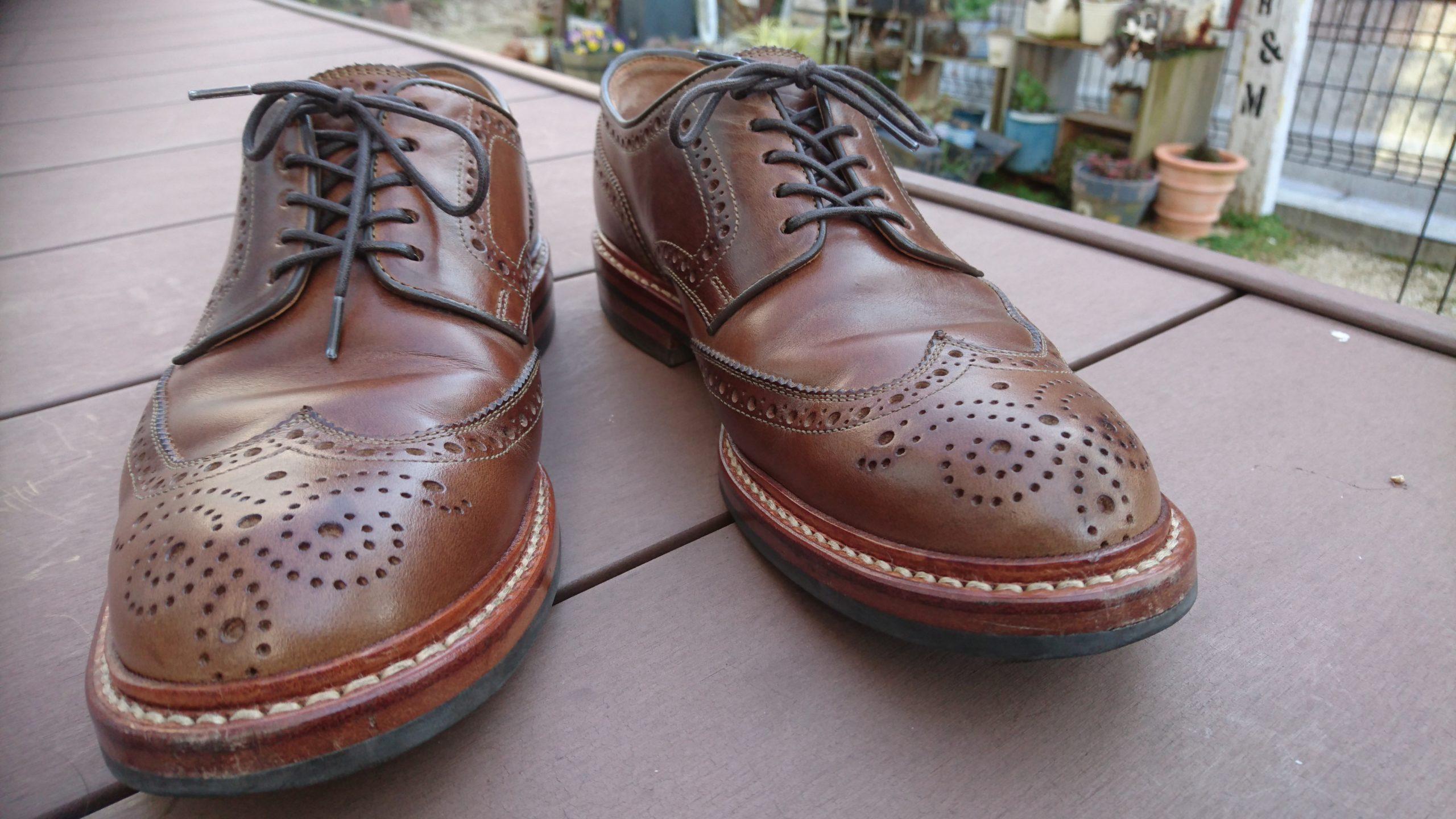 革靴 経年変化 ウィングチップ クロムエクセル ナチュラル