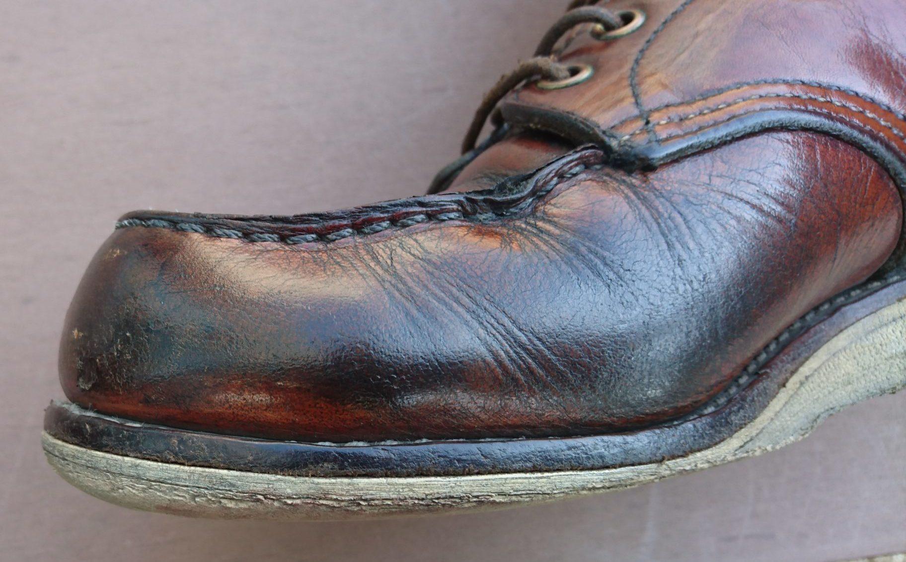 ソール交換時期のブーツ