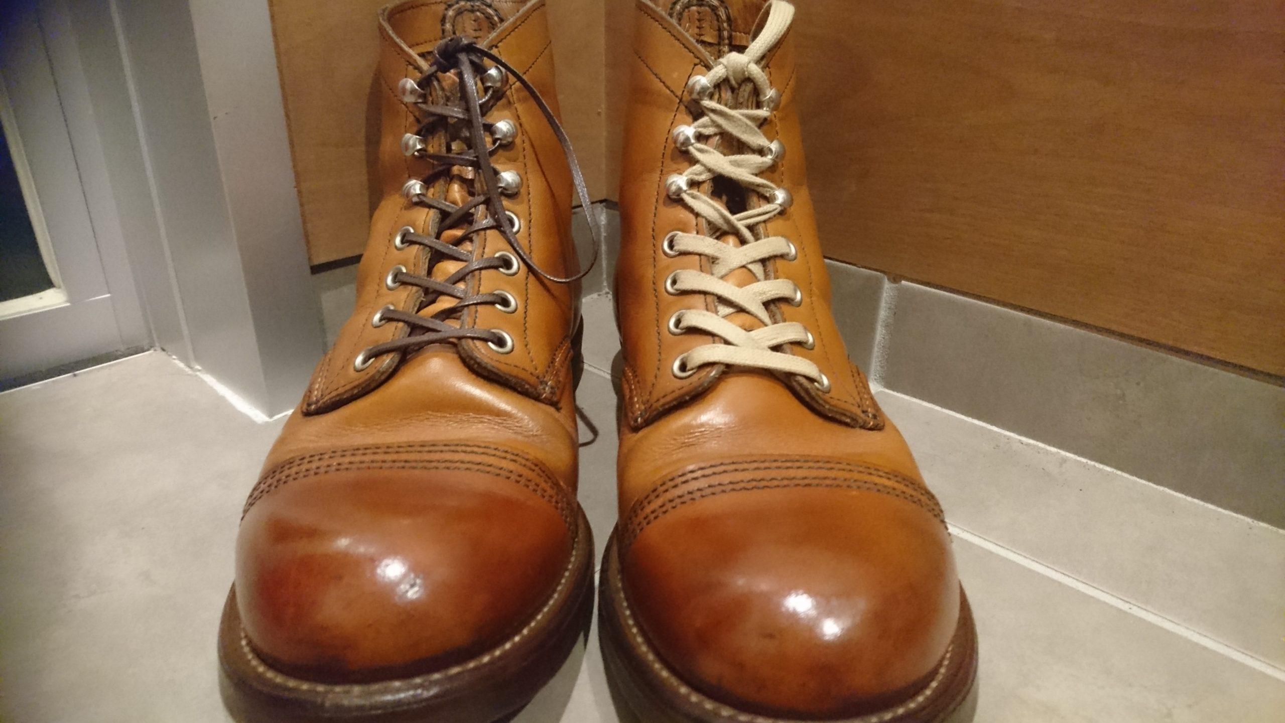 靴ひも 色と太さの比較