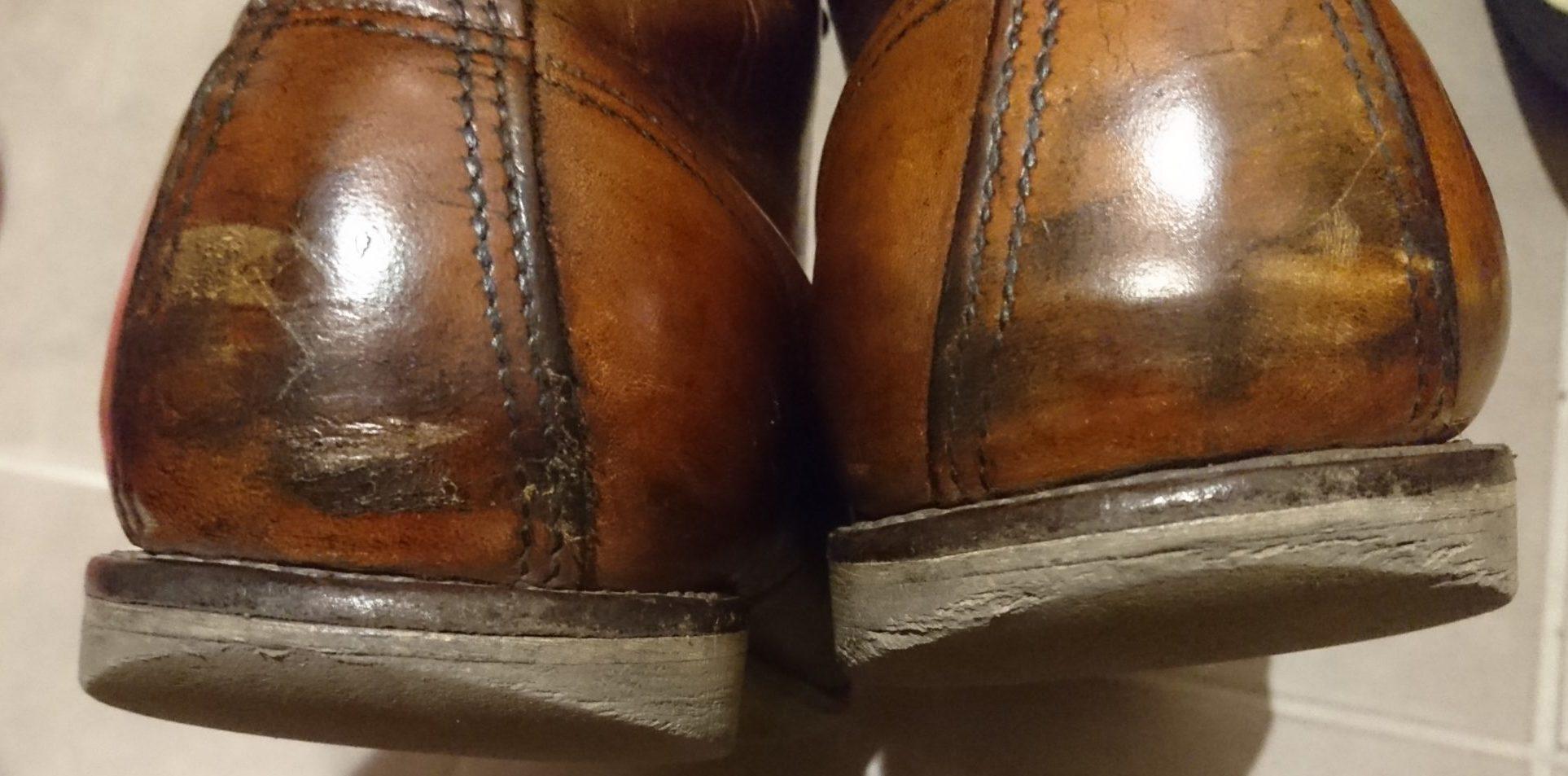 ヒール交換前のブーツ