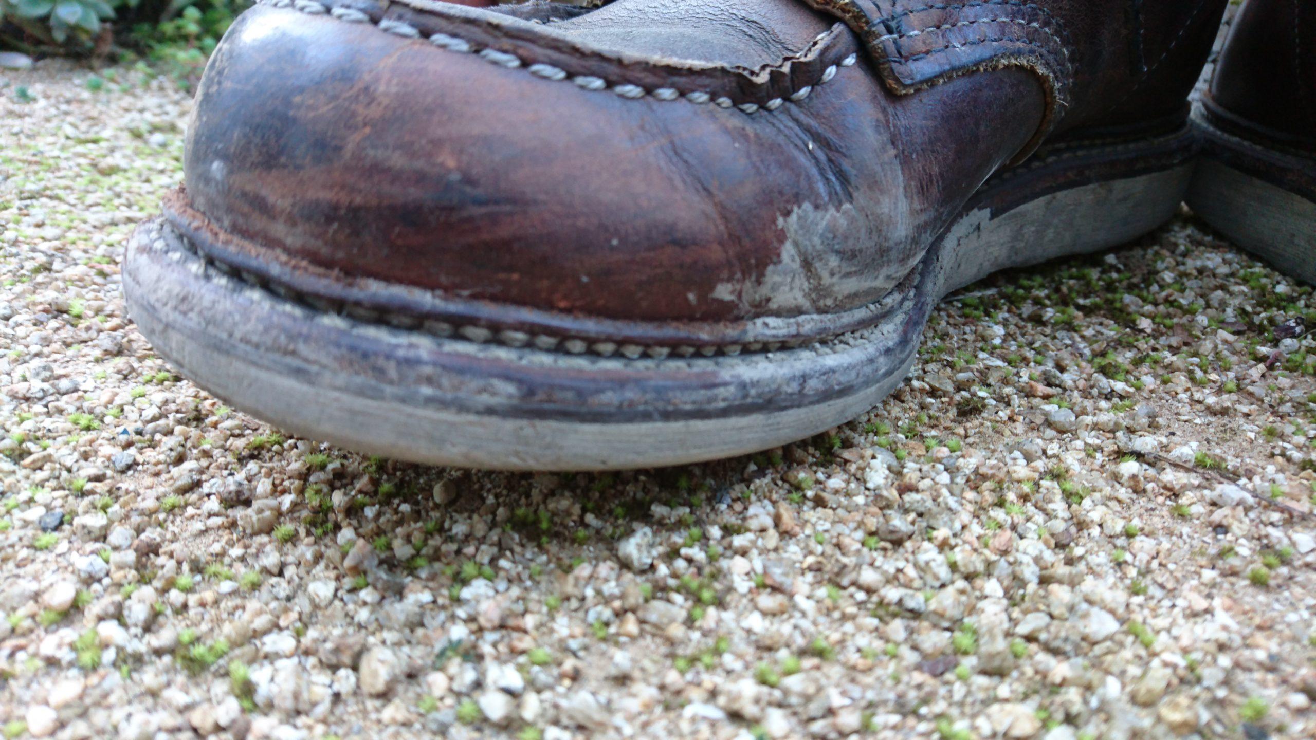 レッドウィング1907 カッパーラフ&タフ 土汚れ 経年変化