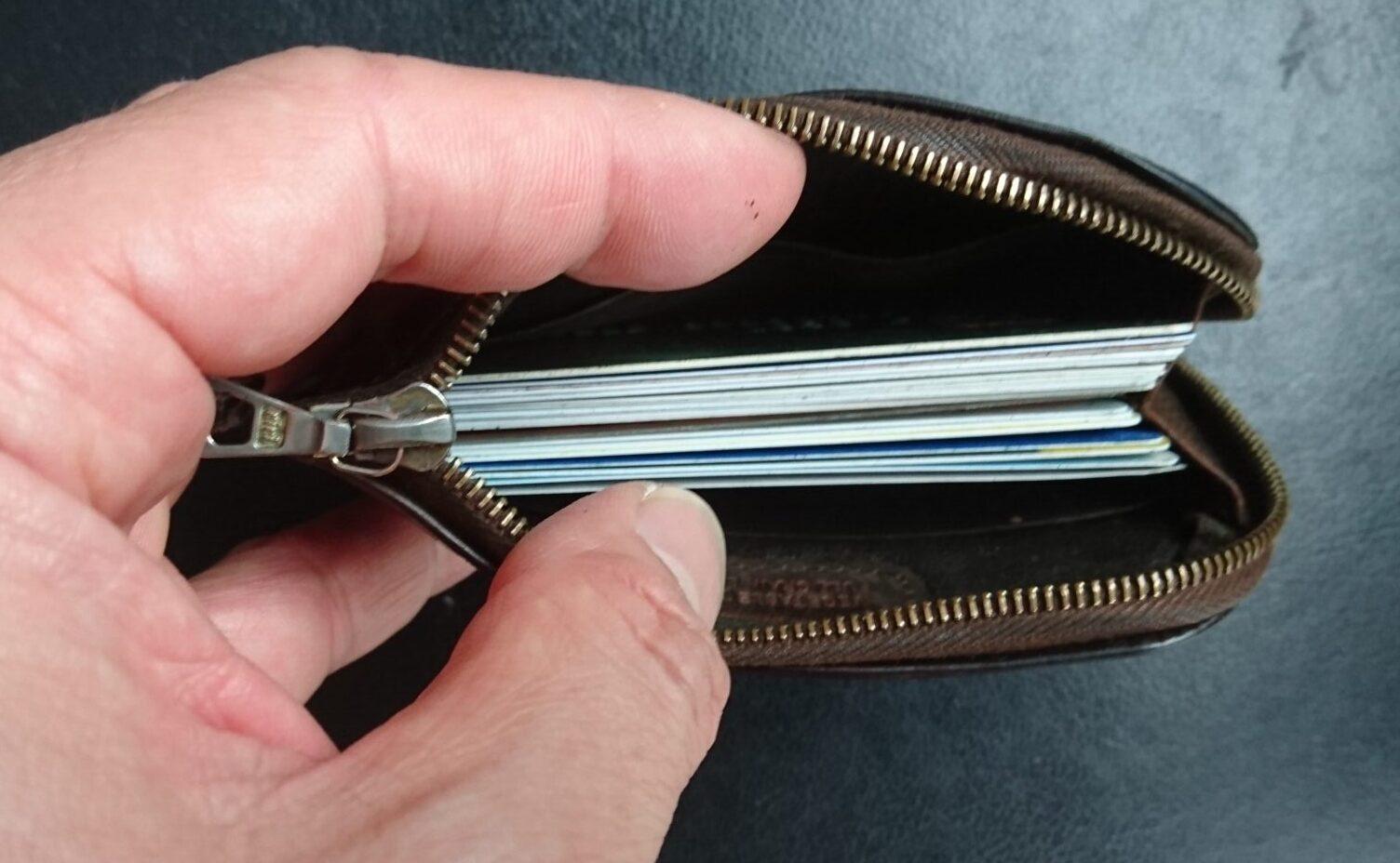 セトラー 財布 革小物 カードケース settler 経年変化