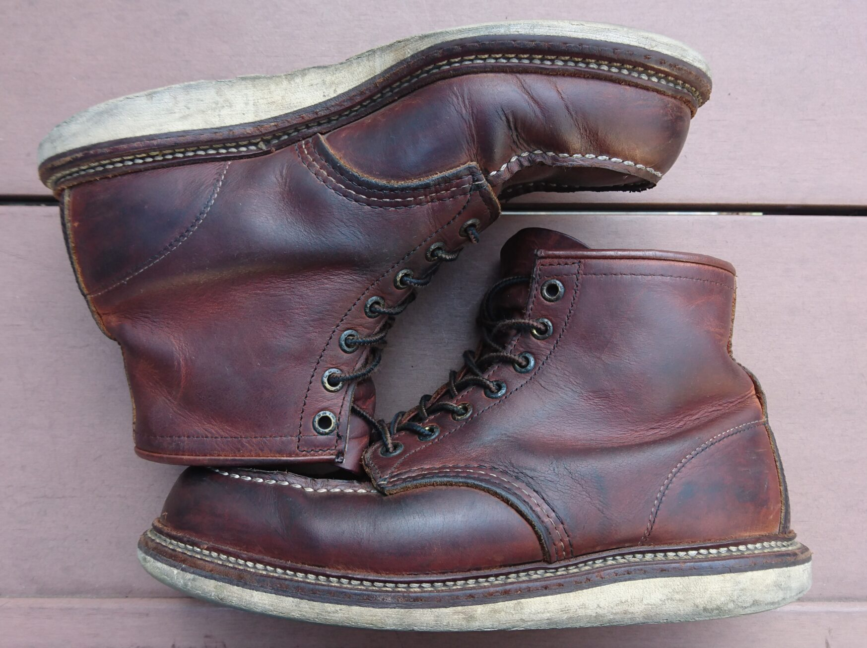 redwing1907 カッパーラフ&タフ 経年変化 エイジング 革 ワークブーツ