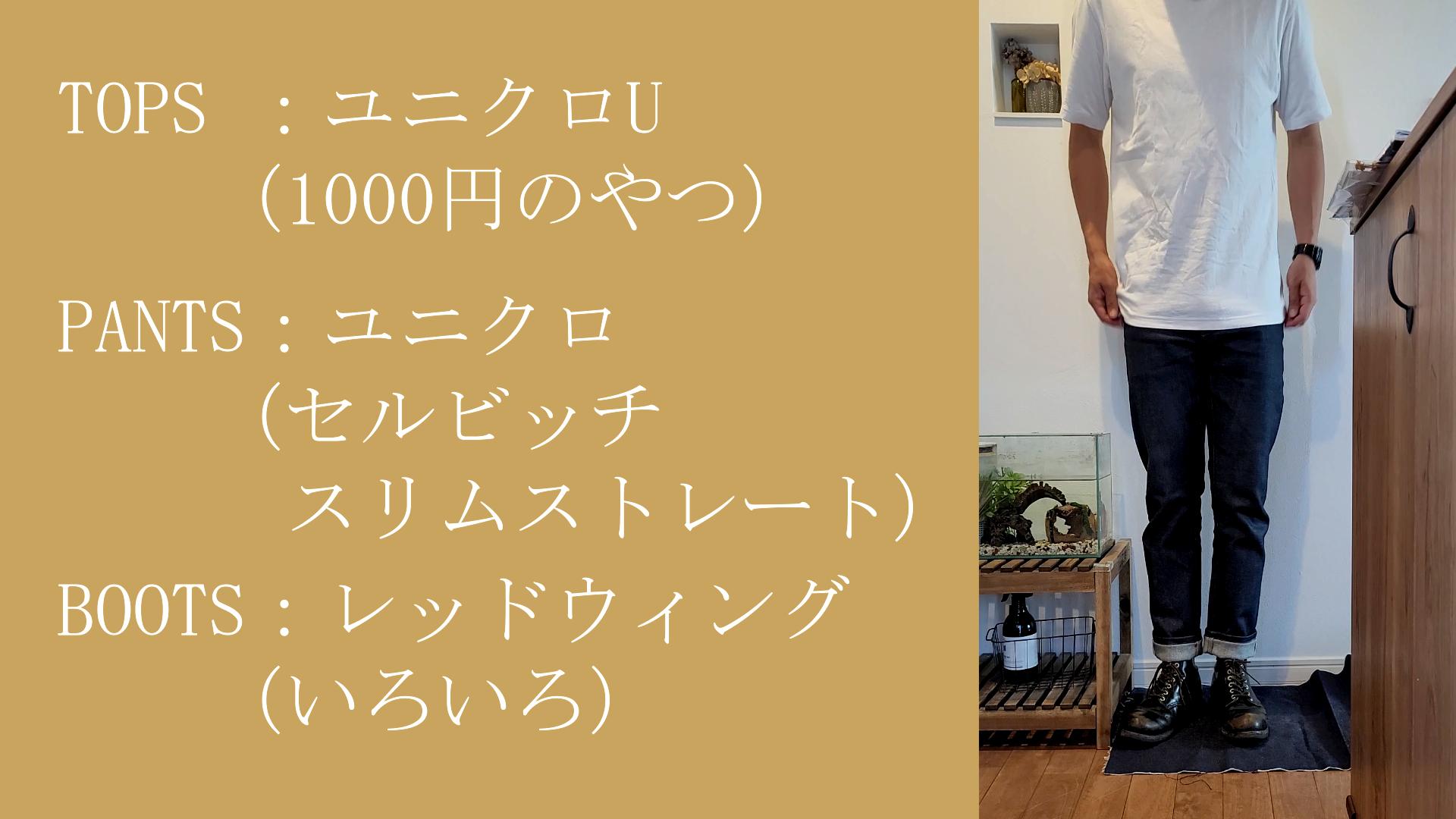 レッドウィング コーデ 夏 9870 茶芯 ブラッククロンダイク